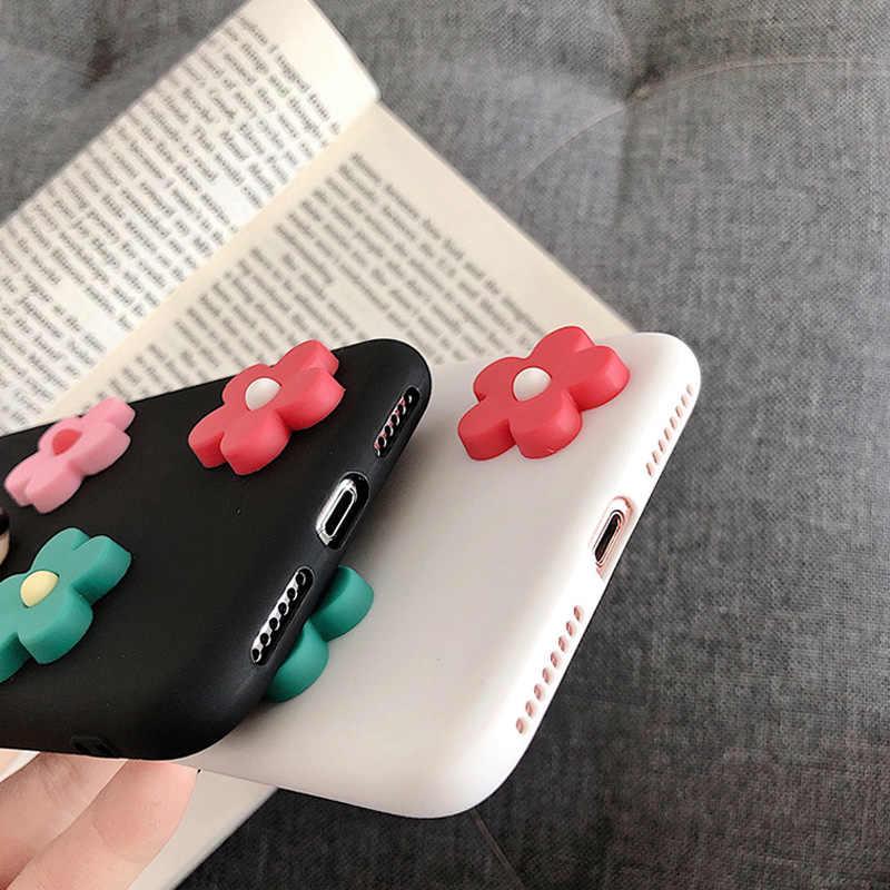 Moskado ファッションカラフルな 3D 花ケース iphone 6 6 s 7 8 プラス X XS XR XS 最大花電話ケースソフト Tpu カバー