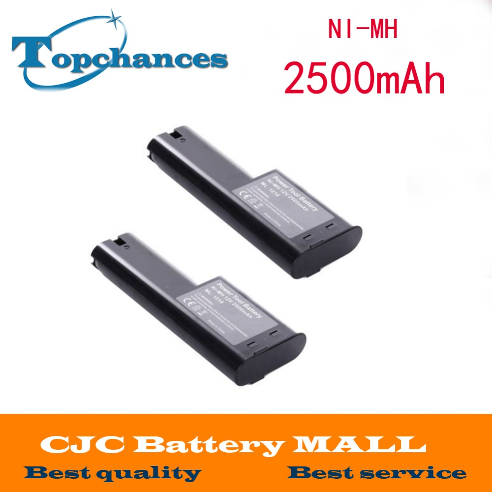 2x 12V 2500mAh Ni-MH Battery for MAKITA 1210 632277-5 809432 12 Volt Power Tool ni mh 12v 3 0ah replacement for bosch tool battery 2607335709 2607335249 2607335261 2607335262 2607335273 gsr12 1gsb12ve 2