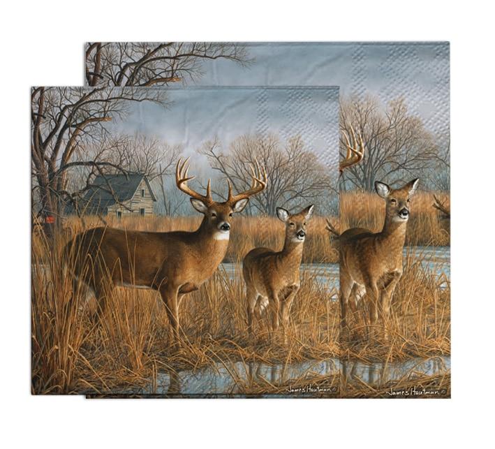 20 napkins deer paper napkins 25*25cm 2-ply animal napkins for decoupage cocktail napkins-YL1613