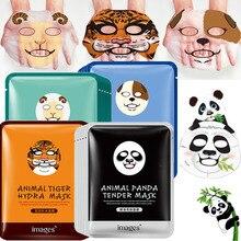 120 шт., маска для лица с животными, глубокое увлажнение, маска для лица, маска для управления маслом для женщин, панда, тигр, биоаква, корейские маски для лица
