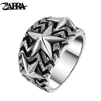 Skills old silversmith stars ring 925the pentagram index finger ring contracted temperament, tie-in decoration Thai silver rings