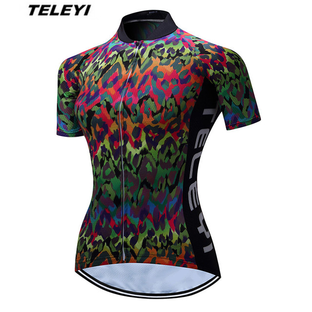 72a949c94 2017 TELEYI Colorful Cycling Jersey top women Cycling clothing bicycle bike  jersey Short Sleeve Roupa Ciclismo maillot Jackets