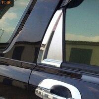 2pcs ABS Chrome Rear Side Window C Pillar Cover Garnish Molding Trim for Kia Sportage 2007 2008 2009 2010