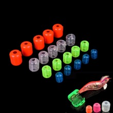 10 шт./лот, пластиковые Джиги для кальмаров, деревянный Креветочный крючок, 4 размера, настенные крючки в виде зонтиков, коробка, несколько цветов, Аксессуары для рыбалки