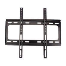 "1 PC TV Wall Mount Bracket Datar Ramping Dudukan Rak LCD 26 32 39 40 42 47 48 50 55 ""Inch Hitam(China)"