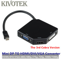 DP To HDMI/DVI/VGA Converter Adapter Cable Display Port Male VGA DVI24+1 Female Connector For PCs Mac Air Pro iMac Free Shipping