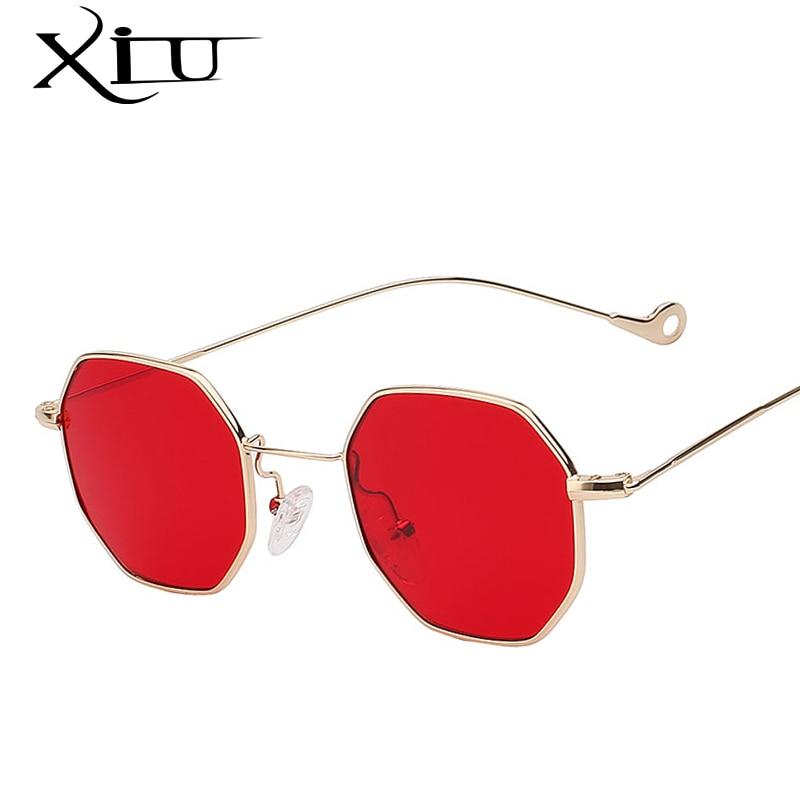 XIU Multi tonos Steampunk gafas de sol Retro Vintage de diseñador de la marca gafas de sol de las mujeres de moda de verano gafas UV400