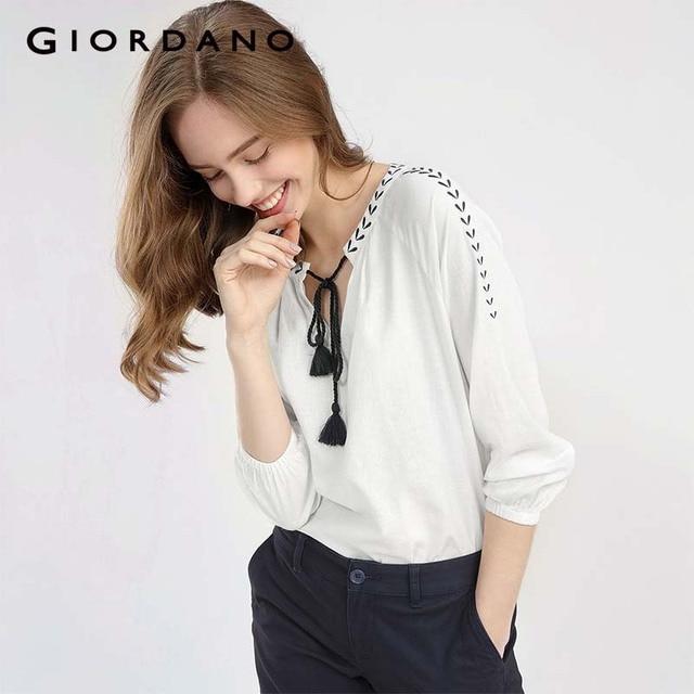 dcaa55514b6 Giordano-Femmes-Blouse-Femmes-Broderie-Cordon-Qualit-Lin-Coton-Doux-Chemise-lastique-Poignets-Blusa-Feminina-Mode.jpg 640x640.jpg