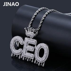 Image 5 - Nome personalizado iced para fora coroa bolha letras pingentes de corrente colares encantos masculinos zircon hip hop jóias cor prata tênis corrente