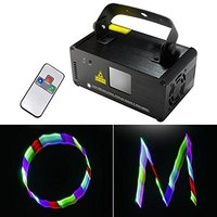 Professional Xmas 3D Effect light RGB Laser Show Lighting DMX Scanner Party Light LED Projector Fantastic Full Color with Remote
