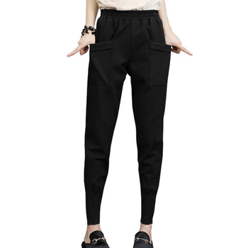 Women Pants Black 2020 New Arrival Spring And Autumn Pockets Casual Female Student Teenager Girls European Style N09