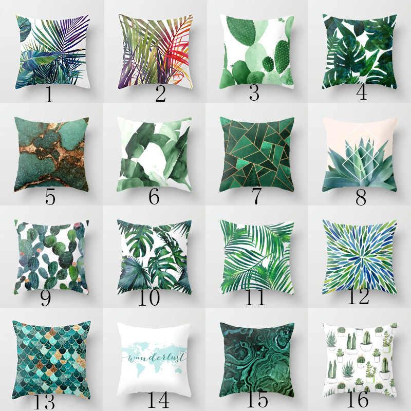 Elife Ретро зеленые листья кактус льняная хлопковая наволочка для подушки украшение дома из полиэстера спальня декоративный диван автомобиль подушка