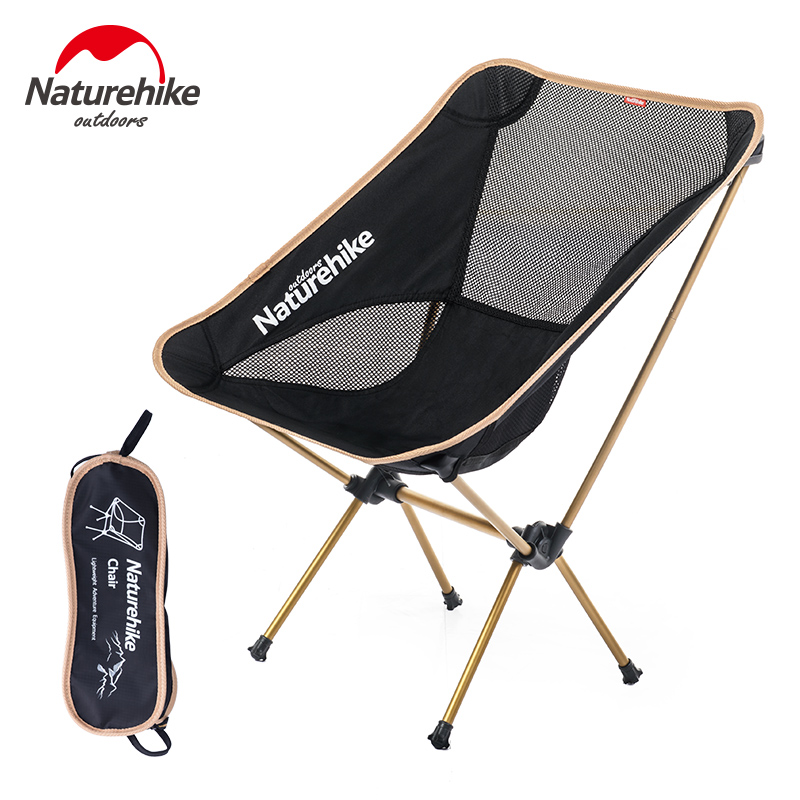 Folding Low Beach Chair Shower Chairs For Handicap Naturehike Outdoor Ultralight Compact Camping Aluminum Back Foldable Picnic Fold Up