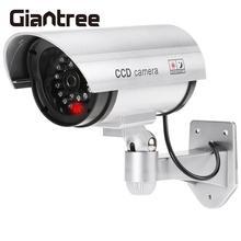 giantree Fake Camera Simulated Security Camera Dummy LED Flashing Light Security Camera CCTV Surveillance Simulation Cam