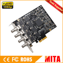 AverMedia tarjeta de captura de $ number canales SDI Hd PCIe Capturador de Marco en 1080 p 60fps, soporte SDK, baja latencia (CE314-SN)