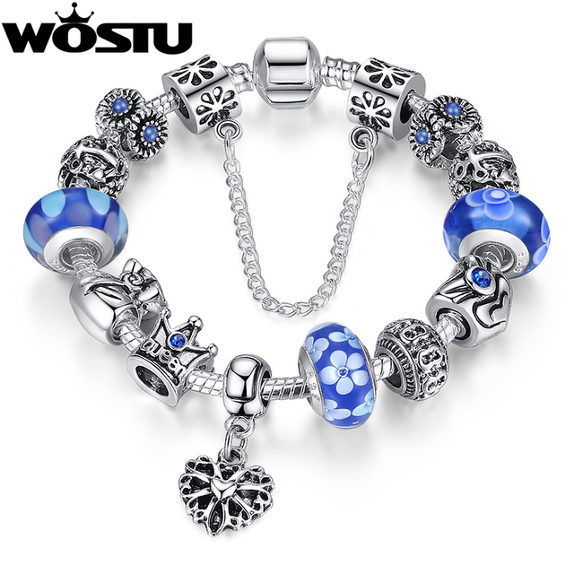 Pandora Style Charm bracelet including 12 Charms