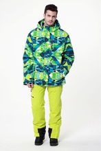 Phibee Men Waterproof Ski Suit Windproof Ski Jacket Ski Pants Warmth Snow Clothes M8010