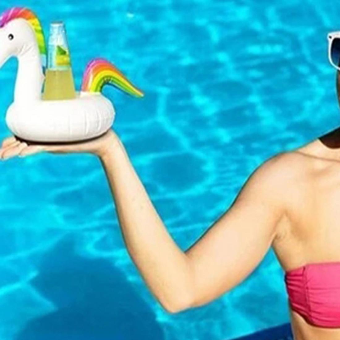 Симпатичный надувной фламинго напиток может сотовый телефон владельца плавая стенд Бассейн Купальный пляж события вечерние детские игруш...