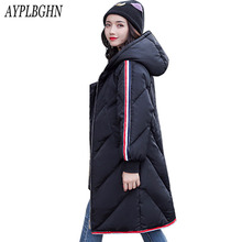 New Plus size Winter Jacket Women Coat Warm Slim Thick Long Parkas Raccoon Fur Collar Hooded For Women Coats Female Jackets 6L94