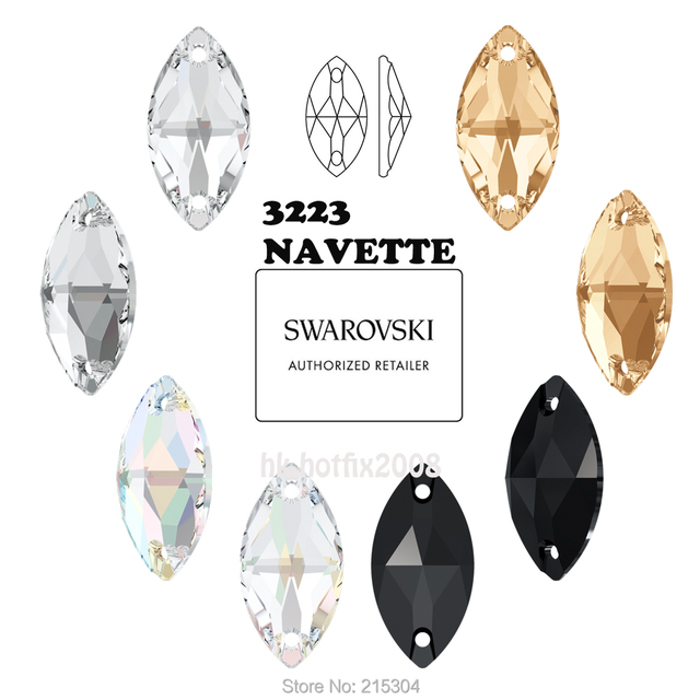 New 2019-20 ( Pick you want ) Swarovski Elements 3223 Navette ( 2 holes )  Sew On Rhinestones bda3a9fde6fd