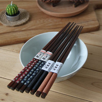 The export of natural wood chopsticks pointed Japanese manual winding tie line wooden chopsticks portable tableware sushi chopst