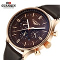 Luxury Top Brand GUANQIN Watches Men New Fashion Men's Big Dial Designer Quartz Watch Male Wristwatch Classic Sport Dress Watch