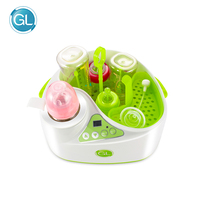 GL Baby Milk Warmer Bottle Sterilizer 2 in 1 Mufti Function Electronic Smart Food Steam Heating Milk Heat Disinfection For Baby