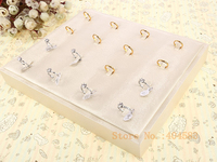 16Gird Gold Ring Display Tray Crystal Ring Display Gold Jewelry Display Tray Ring Tray