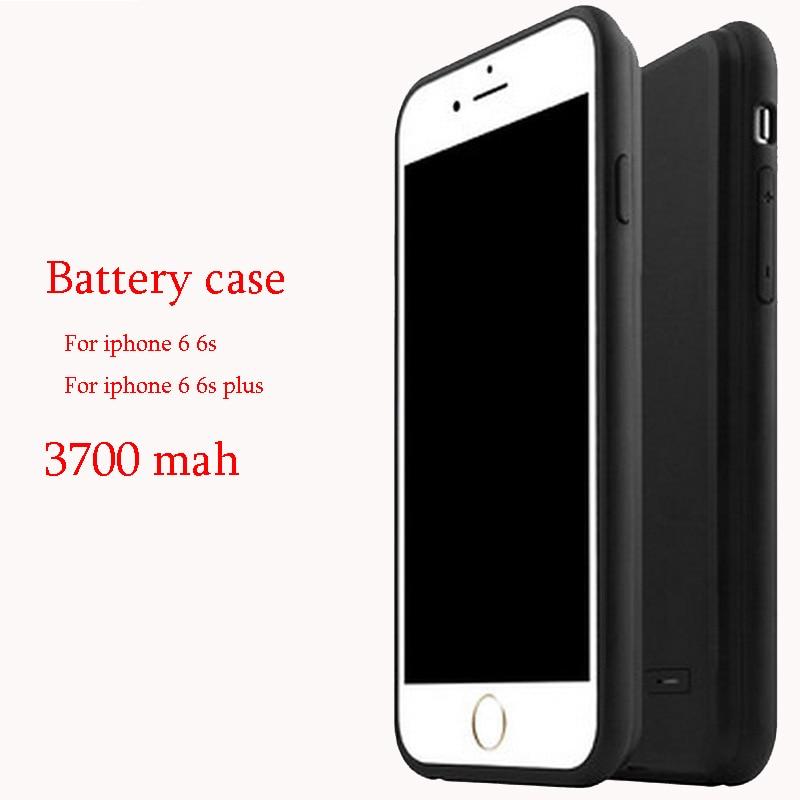 imágenes para 6 6 s case plus cargador de batería de reserva para iphone 6 6s más case cubierta del teléfono ultra fino anti choque proteger de energía externa ajuste