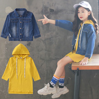 Autumn 2018 Kids Clothes Set for Girls 4 6 8 10 12 Years Cute Hooded Underwear Blue Jacket Suit Girls Thanksgiving Outfits 5A59A