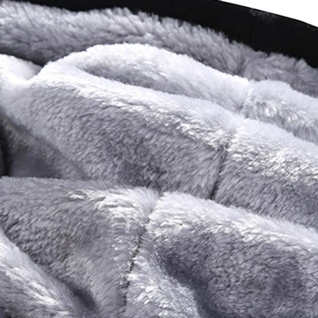FeiTong Men Tracksuit Set Hoodie Winter Warm Fleece Zipper Sweatshirt and Pants Outwear Coat Survetement Homme Sweat Suit