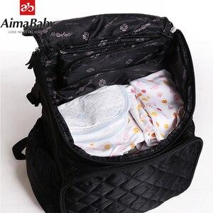 Image 5 - AIMABABY Pannolino Sacchetto di Modo Mummia Maternità Del Sacchetto Del Pannolino Del Bambino di Marca Zaino Da Viaggio Organizzatore Pannolini Sacchetto di Cura Per Il Bambino Passeggino