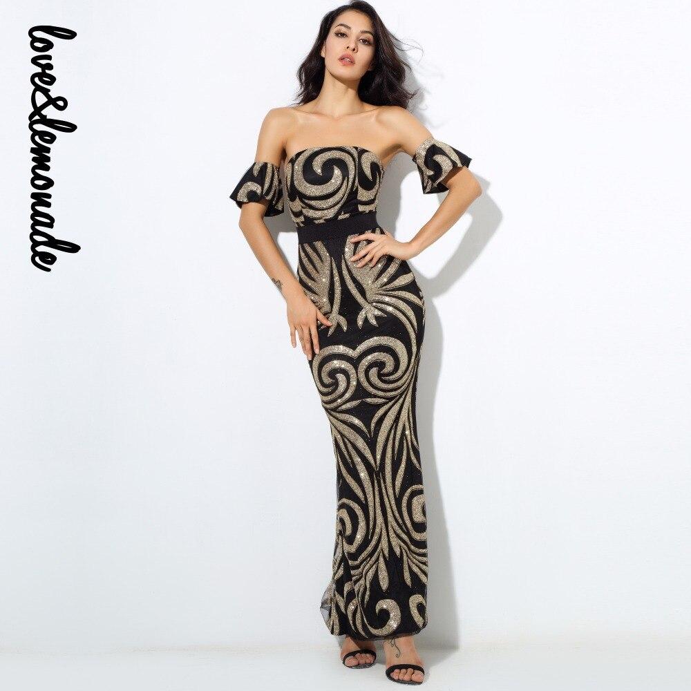 Kadın Giyim'ten Elbiseler'de Aşk ve Limonata Geometrik Desen Boncuk Sutyen Uzun Elbiseler Siyah/Altın LM0213'da  Grup 1