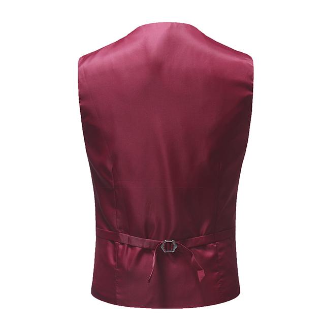 YUNCLOS 2018 Slim Fit Men Suit Vest Wedding Party Groom Suit Vest Waistcoat Formal Single Breast Colete Masculino