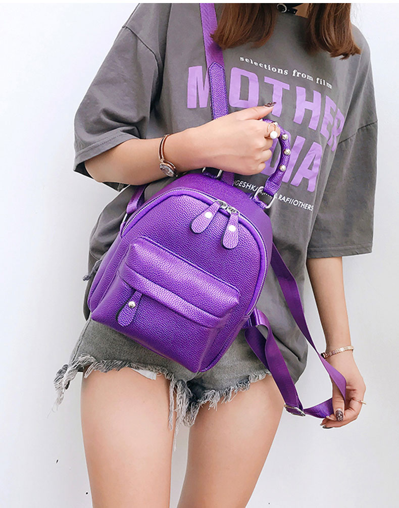 cd66f304ad Famous Brand Backpack Women Backpacks Solid Vintage Girls School Bags for  Girls Black PU Leather Women Backpack Women Backpack female brand back pack  ...