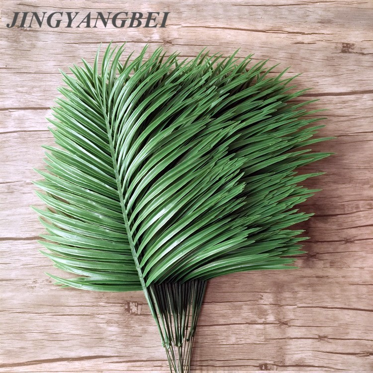 Artificial Palm Leaves 5pcs Green Plants Iron Tree Leave Decorative Artificial Flowers Wedding Decoration