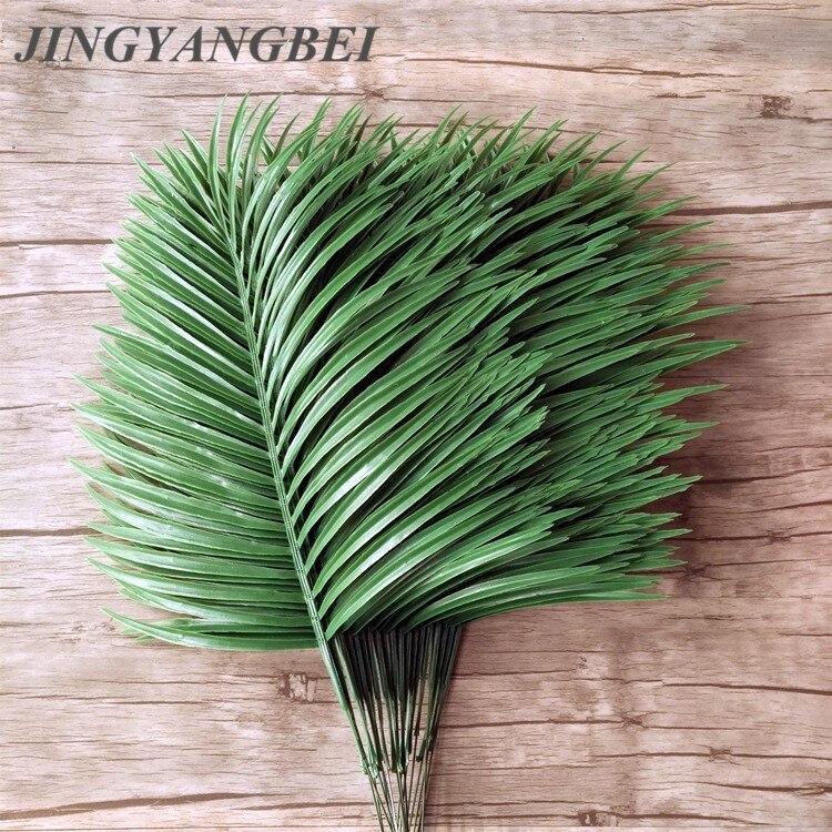 Artificial Palm Leaves 5pcs Green Plants Iron Tree Leave Decorative Artificial Flowers Wedding Decoration