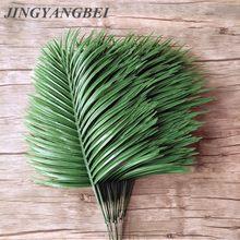Feuilles de palmier artificielles, 5 pièces, plantes vertes, feuilles d'arbre en fer décoratives, fleurs artificielles, décoration de mariage