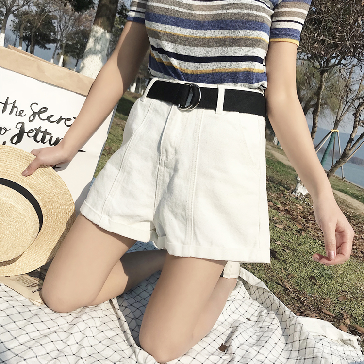 2018 Women summer Hot Style High Waist Denim Shorts Fashion Short Jeans for Women Beach Casual Slim Shorts
