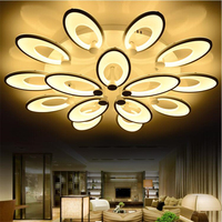 Современный светодиодный потолочный светильник lampfor Гостиная дома Акриловые цветок расцветает потолочный светильник светильники украшен