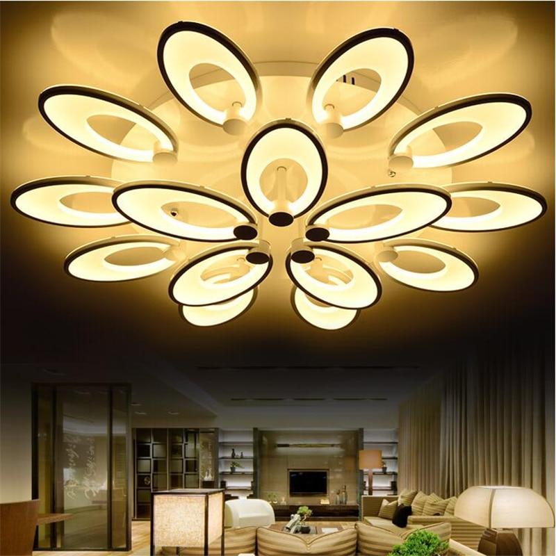 Buy modern led ceiling lights for living for Wohnzimmerlampen led modern
