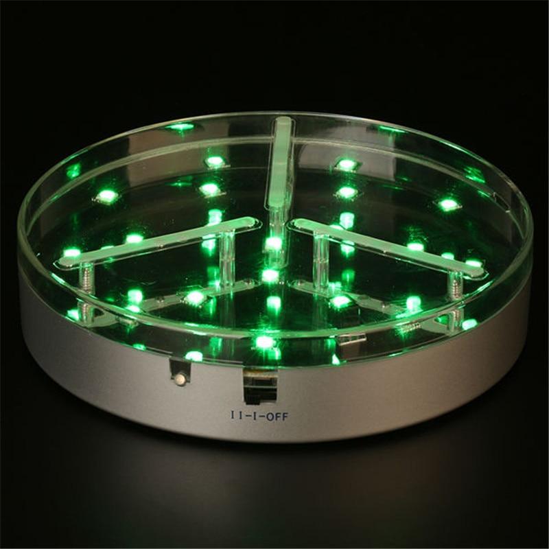 Прямая продажа с фабрики дело! Центральным свет Перезаряжаемые Батарея работает 6 дюймов RGB подсветкой База для под ваза свет