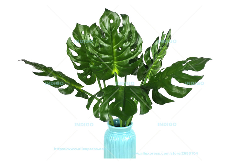 Split Philodendron Leaf Leaves Philo Green Decoration Artificial Flower Arrangment Branches - Indigo Decor Supplies Limited store