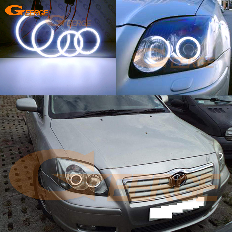 For Toyota Avensis T25 2003 2004 2005 Excellent angel eyes Ultra bright illumination COB led angel eyes kit halo rings for bmw e53 x5 2000 2001 2002 2003 excellent ultra bright illumination cob led angel eyes kit halo rings