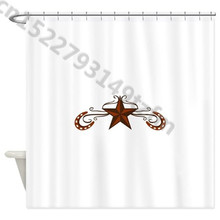 Waterproof Shower Curtains Western Star Curtain Print Polyester Fabric Bathroom With 12 Hooks