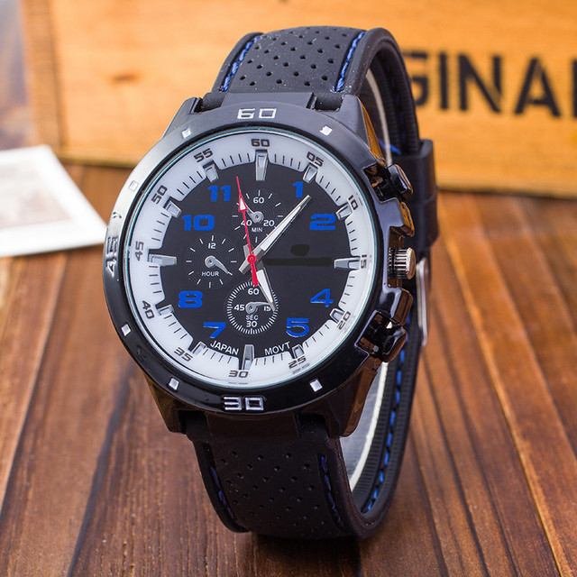 New famous brand Casual Men Watches Silicone sport watch outdoor casual men Mili