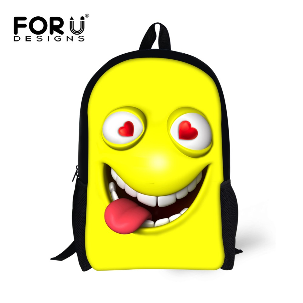 где купить Pretty Style School Bags for Teenager Girls Smiley Emoji Face Printing Children Kids Schoolbag Women Casual Bag Mochila Feminina по лучшей цене