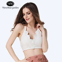 NewAsia 2017 NEW Sexy Women Tie Front Tank Tops Bow Cropped Tops Winter Autumn Vest Bandeau