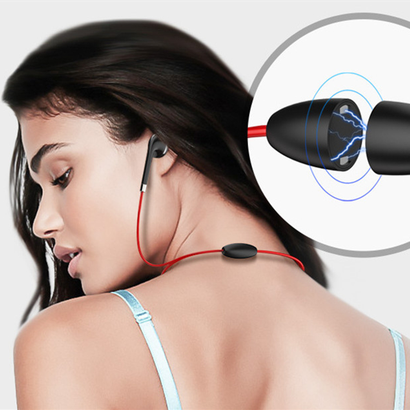 Bluetooth Headphone Wireless Headset Magnetic Neckband Sport Sweat Proof Bluetooth Earphones with Mic for iPhone Mobile Phones