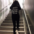 2016 ANTI SOCIAL CLUB Sweatshirts Mens Hip Hop Streetwear Hedging Hoodies Justin Bieber Air anti social club
